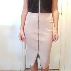 Medium Length Zip skirt